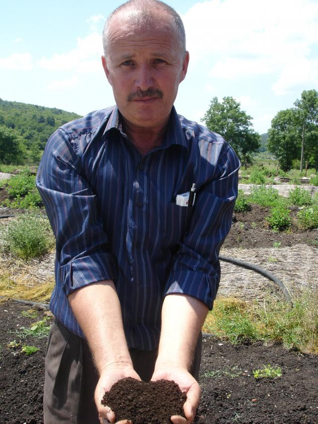Kasim, the owner of the model farm in the village of Topolovo (Photo: Iva Tontcheva)