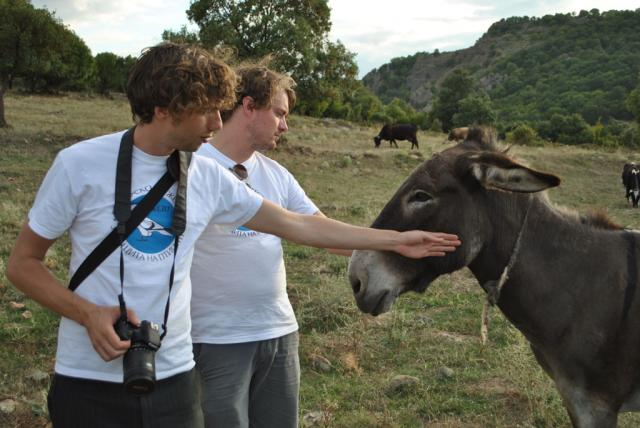 Dutch Postcode Lottery Charity Ambassadors Rikus and Sijmen in the Eastern Rhodopes (Photo: Martien Lankester)
