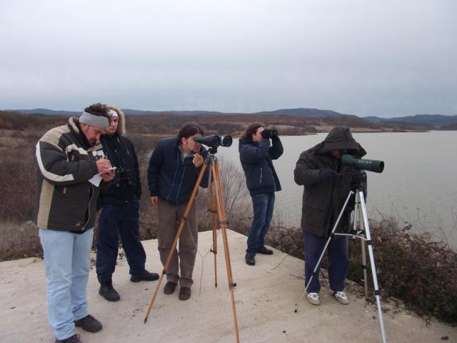 Young volunteers participated in the traditional mid-winter bird census in January 2012. (picture by Radoslav Petkov)