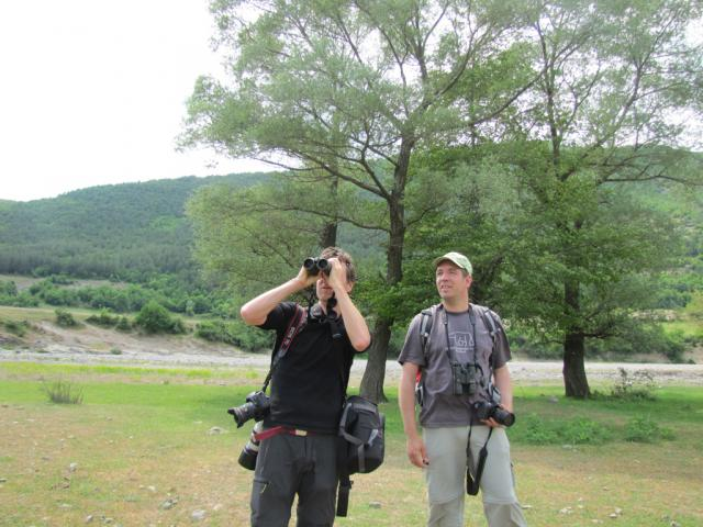 Dirk Hilbers and Albert Vliegenthart from Crossbill Guide's team (pic. Iva Tontcheva)